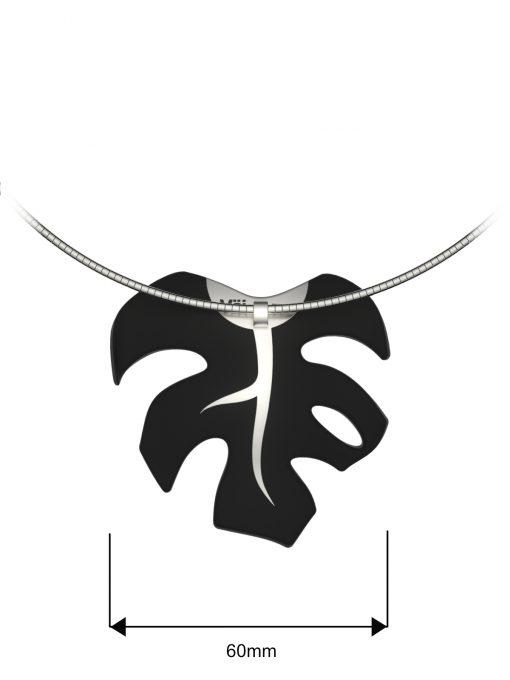 Väi Lehti pendant by Väisänen Design, back and size