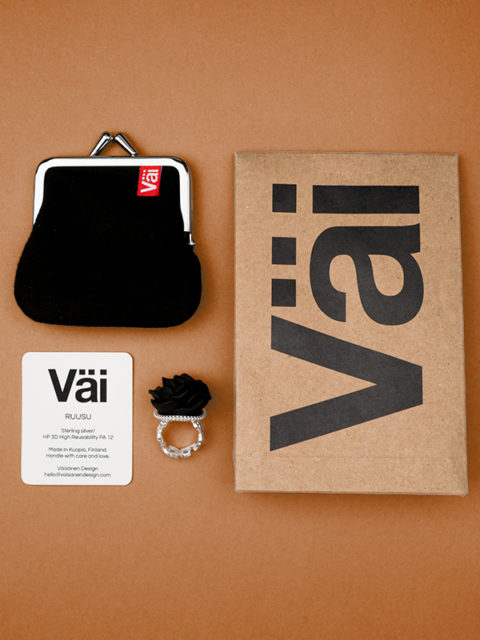 Väi Ruusu ring by Väisänen Design, package