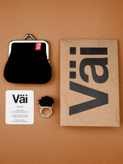 Väi Ruusu ring by Väisänen Design, package