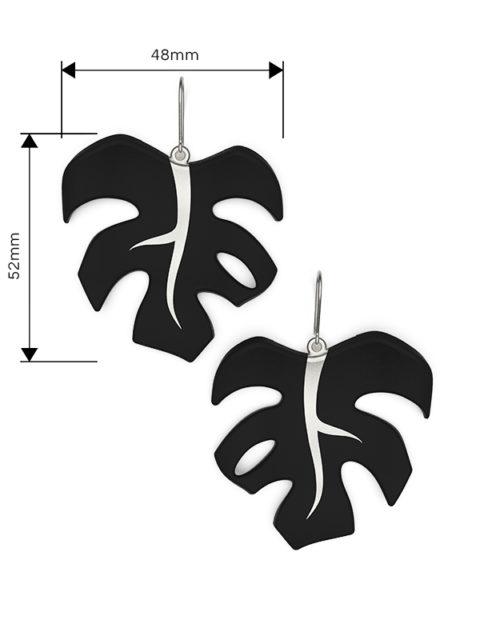 Väi Lehti earrings by Väisänen Design, size